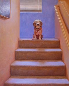 Housedog, painting by artist Don Gray