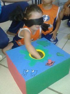 caixa de sensações para crianças