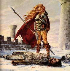 """Larry Elmoregets a lot of shit for being one of the old-school cheesecake artists of Dungeons & Dragons, I tend towards old-school myself so I've always kind of liked him even with all those """"chainkinis in the snow"""" type Dragon Magazine covers. The Dragonlance books similarly get a lot of flack for being derivative (TSR certainly milked 'em to death) but I gotta tell you when I was twelve and Lauranawent from lovestruck elven princess to bad-ass warrior general facing impossible odds, ..."""