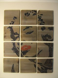 Marilyn Monroe moderne String Art tabletten Set van 12 door NineRed
