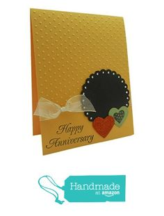 Handmade Wedding Anniversary Greeting Card - Yellow Swiss Dots with Red and Green Hearts - Wedding Anniversary - Handmade from Embellish by Jackie http://www.amazon.com/dp/B017L5PNJ4/ref=hnd_sw_r_pi_dp_ugl2wb1ZTG72J #handmadeatamazon