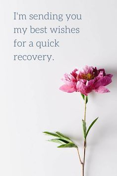 Get well soon wish on image with flower.