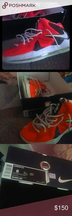 Lebron 10 total crimson Never worn size 10 Nike Shoes Sneakers