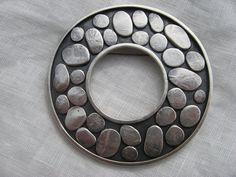 Hand fabricated sterling silver cobblestone por LisaColbyMetalsmith