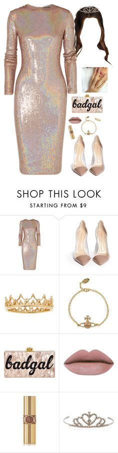"""""""pageant queen"""" by milean ❤ liked on Polyvore featuring Givenchy, Gianvito Rossi, QVC, Vivienne Westwood and Yves Saint Laurent"""