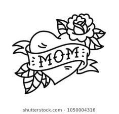 Flower tattoo old school rose 27 ideas Retro Tattoos, Mom Tattoos, Trendy Tattoos, Flash Tattoos, Tattos, Tattoo Old School, Traditional Tattoo Stencils, Tattoo Traditional, Traditional Styles