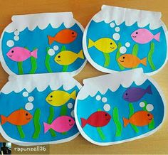 fish crafts for toddlers preschool crafts Kids Crafts, Daycare Crafts, Summer Crafts, Toddler Crafts, Arts And Crafts, Summer Art Projects, Ocean Crafts, Art N Craft, Toddler Art
