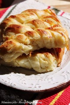Recepti s potpisom. Bread Recipes, Baking Recipes, Cookie Recipes, Dessert Recipes, Albanian Recipes, Croatian Recipes, Savory Pastry, Savoury Baking, Kiflice Recipe