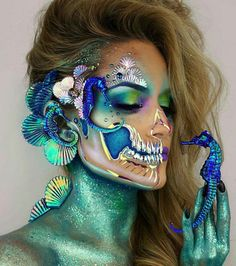 """Paire de Handmade Large 3/"""" Halloween Squelette Day of the Dead Ruban clips cheveux"""