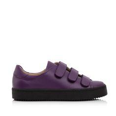 KACHOROVSKA / violet leather slip-on sneakers