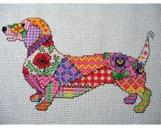 Patchwork Elephant Cross Stitch PDF Pattern by Chartsandstuff