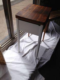 """vintage imprint table"" - white side"