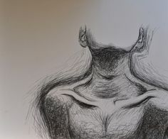 Collar bones, shoulders, chin, facing up, shading
