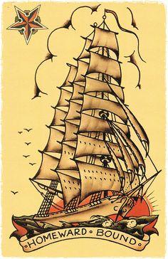 11 x 17 Homeward Bound 2 Pirate Ship by DocNSonApothecaryETC
