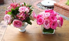 """Here's a taste of two arrangements you can watch Sarah make and learn how you can DIY on her PBS show """"Flower Empowered""""! // sarah von pollaro"""