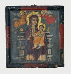 Yuhanna al-Armani and His Coptic Icons - Religious Symbols, Religious Art, Mexican Paintings, Montserrat, Book Of Kells, Byzantine Icons, Old Images, Madonna And Child, Orthodox Icons