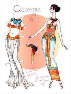 Cleopatra In Art | Gabi Paper Dolls