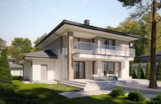 Minimal House Design, Minimal Home, Model House Plan, House Plans, House Construction Plan, House Paint Exterior, Home Fashion, House Painting, Architecture Design