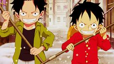 luffy and ace as kids
