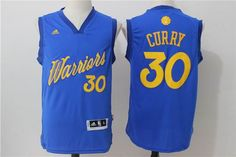 Golden State Warriors #30 Stephen Curry blue 2016 Christmas Day Jersey