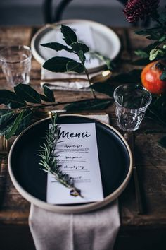Add a personal touch with these printed menus.