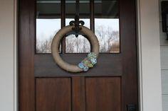 Spring Wreath-Green Door Designs Guest Post | Amanda Jane Brown  - loving the door