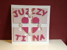 Solid Wood Personalised Jigsaw Decoration