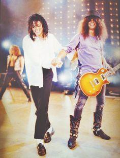 Michael Jackson and Slash <3