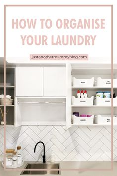 Looking for laundry organisation tips and tricks for the home? If you have a small space to st. Laundry Cupboard, Laundry Room Cabinets, Laundry Storage, Laundry Hacks, Laundry Room Organization, Laundry Hamper, Small Storage, Storage Shelves, Storage Ideas