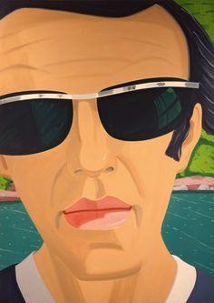 ALEX KATZ  Self-Portrait with Sunglasses