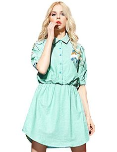 Elf Sack Girls Sequined Short Sleeve Polo Shirt Dress Green