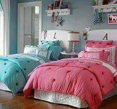 Boy and girl shared room in blue and pink tones. Children's room decoration Decoration with two cribs Brothers room Children room Simple decoration Brothers couple Twin Girl Bedrooms, Sister Bedroom, Girls Bedroom, Bedroom Decor, Bedroom Ideas, Boy And Girl Shared Room, Shared Rooms, Little Girl Rooms, Girl Bedroom Designs