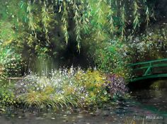Czech Painter Milan Čihák - Monet´s Garden In Giverny