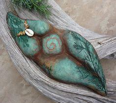 Earth Mother Goddess sculpture, Sacred Feminine art, Divine Mother clay…