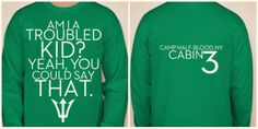 CHB Cabin shirts. Cabin 3- Poseidon. Designed by Evangeline Meadows. I want this shirt!!!!!