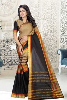 Multi Cotton and art silk Saree With Art silk Blouse - Sari Design, Mothers Day Special, Indian Sarees Online, Art Silk Sarees, Traditional Sarees, Party Wear Sarees, Printed Sarees, Saree Collection, Buy Dress
