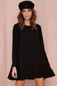 Vestido manga larga-negro