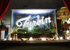 Turbin is a Stockholm based production company with great window displays. Here is a great terrarium with the logo. Love the steam on the glass.