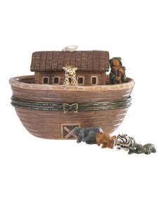 Take a look at this Noah's Ark Treasure Box and Figurines by Boyds on #zulily today!