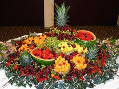 New Fruit Display Ideas Trays Wedding Reception Ideas Fruit Centerpieces, Fruit Decorations, Fruit Arrangements, Veggie Display, Veggie Tray, New Fruit, Fresh Fruit, Fruit Art, Fruit Tables