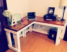 diy corner desk #desk #WoodworkingDesk