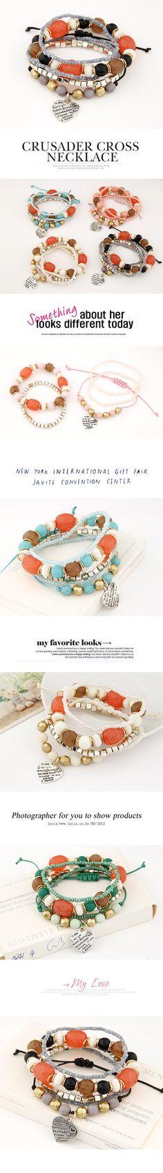 Wholesale Perlas de la moda del estilo del occidente de Bohemia colgante de corazón de metal de la pulsera de | Callesetas