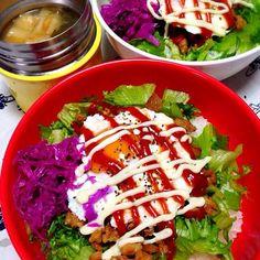 1/25 本日のお弁当:◯テリマヨ丼◎春菊と麩のお味噌汁 - 20件のもぐもぐ - おべんと。 by aiiwahlpmsawiia