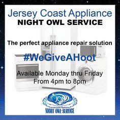 Night Owl Service Social Media Graphic | Jersey Coast Appliance | A Creative Click Media Design | http://creativeclickmedia.com