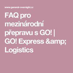FAQ pro mezinárodní přepravu s GO!