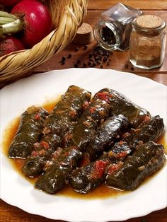 koupepia in a tomato sauce - one of my favourites. Greek Recipes, Meat Recipes, Cooking Recipes, Cyprus Food, Mince Dishes, Greek Appetizers, Minced Meat Recipe, Greek Cooking, Mediterranean Recipes