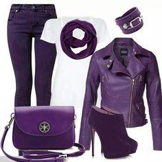 Purple and white passion
