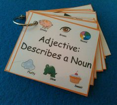 Adjectives Flash Cards, Adjectives Flashcards, Adjectives, LAMINATED, Sight Words, Kids Education, Homeschool, Montessori Learning, Teachers
