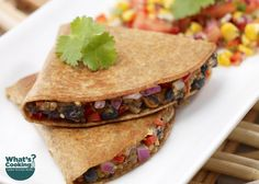Fiesta Wrap #grains #protein #MyPlate #WhatsCooking