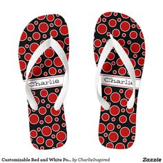 Customizable Red and White Polka Dots